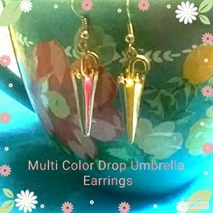 MULTI COLOR UMBRELLA EARRINGS
